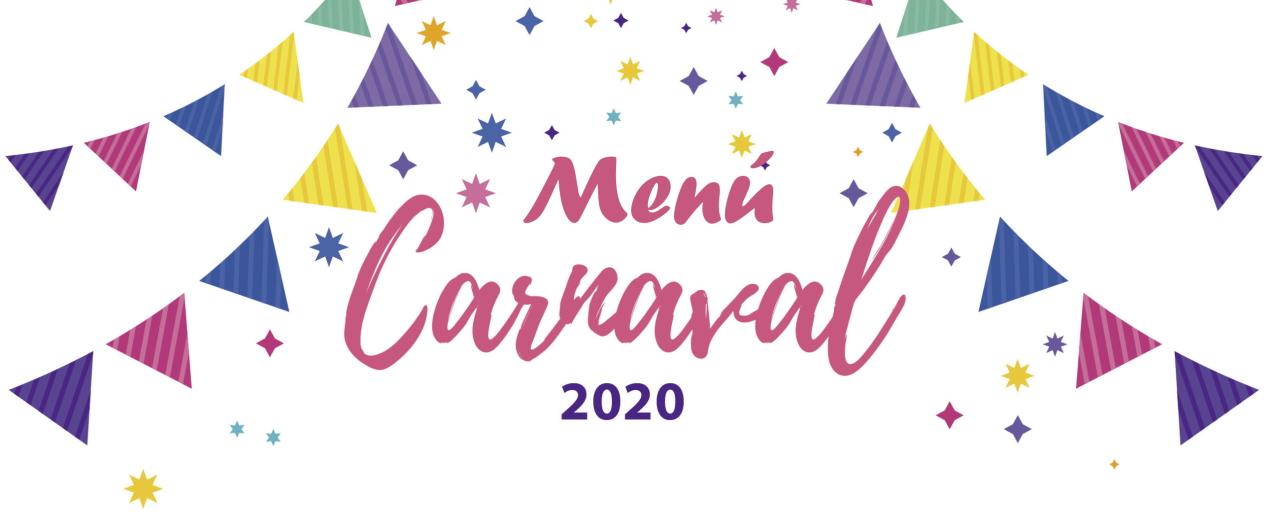 Menú Especial Carnaval 2020